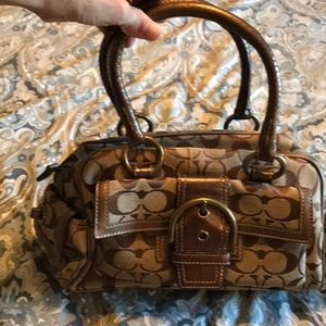 Coach bag brwn/ bronze